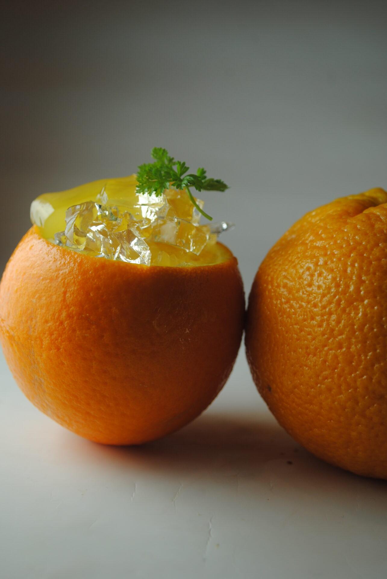 まるごとオレンジゼリーの写真