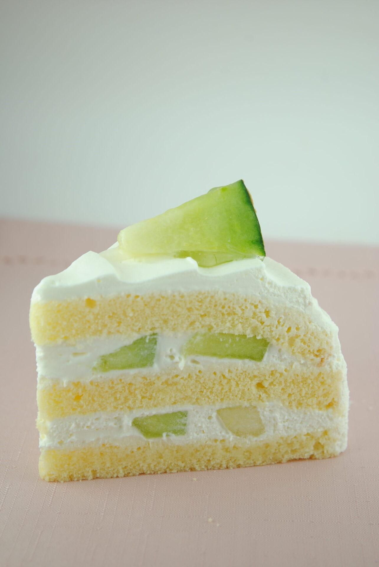 益田産メロンのショートケーキ